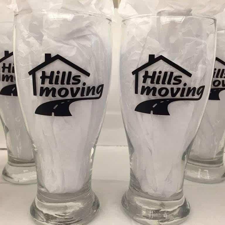 Hills Moving glasses